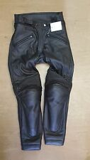 New Genuine Ex Police Jolly Made In Italy Black Leather Motorbike Trouser 44EU