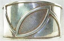VTG WROUGHT STERLING SILVER MODERNIST CUFF BRACELET
