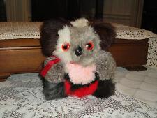Australia VINTAGE Multi Colored Fur Koala Bear Bank HTF