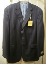 NEW SZ 46L GIORGIO COSANI MENS BLACK RED STRIPE SUIT JACKET BLAZER SPORTCOAT NWT