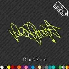 Velentino Rossi 46 signature sticker decal vinyl - Fluorescent