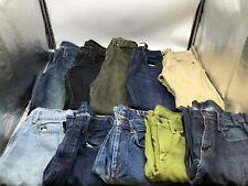 Bulk Clothing Lot: 10 Pants Men Various Vintage Denim Size Small