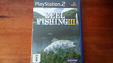 Reel Fishing III 3 (Sony Playstation 2, PS2) Complete Fishing Natsume Harvest