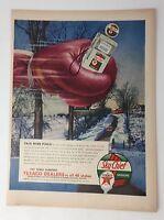 Original Print Ad 1954 TEXACO Sky Chief Pack More Punch Vintage Art