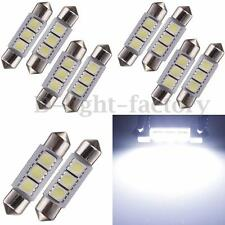 10X CAR 12V LED 36MM FESTOON INTERIOR WHITE LIGHT BULB 5050 3SMD AUTO DOME GLOBE