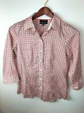 Foxcroft Button Down Shirt Women's Size 4 Design Long Sleeves