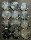 Old Canada Coin Lot - 50 CENTS - 12 BU/UNC Coins - Lot #O14