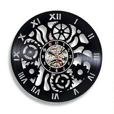 Mechanism Modern Wall Clocks Sticker Vinyl Record Cool Decor Living Room Art