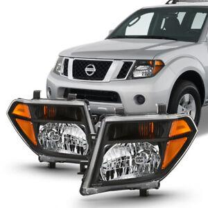 For Nissan 05-08 Frontier 05-07 Pathfinder Black Housing Amber Corner Headlight