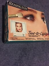 Vintage Remington True to Light 3 Way Lighted Make Up Mirror LM-8 Outlet/2 Sides