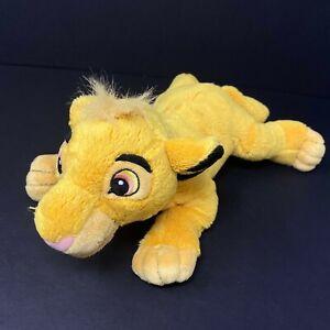 "Disney Parks The Lion King Simba Plush 14"" Stuffed Animal Baby Lovey Sewn Eyes"