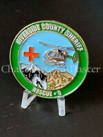 D35 Riverside County Sheriff Rescue 9 California Police Challenge Coin