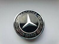 Mercedes-Benz Motorhauben-Emblem 57 mm Schwarz/Silber