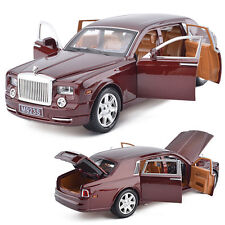 Hot New 1:24 Rolls-Royce Phantom Metal Diecast Model Car Toy Sound&Light gifts