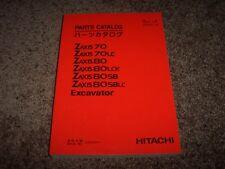 Hitachi Excavator Zaxis 70 80 LC LCK SB SBLC Parts Catalog Manual 060001-