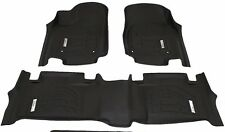 2013 - 2018 Jeep Grand Cherokee 3-Piece Black Front & Second Row Floor Liners