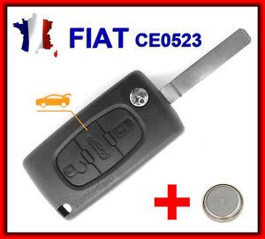 Carcasa Llave Inteligente Mando a Distancia Fiat Doblo Scudo Ducato Fiorino Pomo