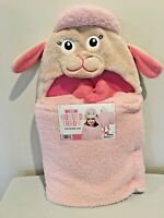 "LAMB KIDS' PLUSH HOODED THROW by Best Brands 27"" x 52"" NEW!"