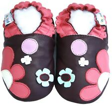 Littleoneshoes SoftSole Leather Baby Infant Children FlowerpatchPurple Shoe 0-6M