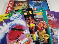 ¤ Authentic Sega Genesis Manual Instruction Game ¤ Tittle Choose Pick Your Book