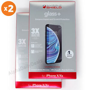 2 Pack ZAGG Invisible Shield Glass+ Screen Protector iPhone X XS 11 PRO