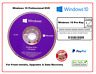New Microsoft Windows 10 Pro Professional 64Bit DVD & 1 Printed License Key UK