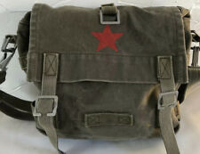 Vintage Green Military Bag Chinese Army Red Star 🇨🇳