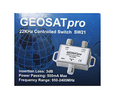 GEOSATpro 22KHz Tone Control Satellite Switch 0/22 KHz 2x1 Switch FTA SW21