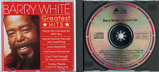 Barry White Greatest Hits 1982 GERMANY CD COME NUOVO MINT SOUL DISCOTECA POP 70ies culto