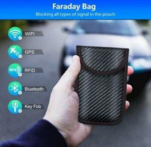 2 pcs Anti-Theft Car Key Signal RFID Blocker Pouch &Faraday Auto Bag Pouch  UK
