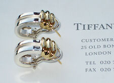Tiffany & Co 18Ct 18K Gold & Sterling Silver Atlas Bar Earrings
