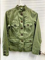 Banana Republic Women's Green Khaki Utility Jacket 100% Cotton Size XS