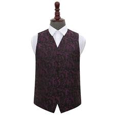"Woven Floral Formal Tuxedo Men's Boys' Wedding Waistcoat Chest Size 22""-50"""