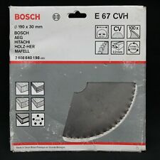 Bosch E67CVH 190mm x 30mm 100T CV Circular Saw Blade for Wood. Made in the UK