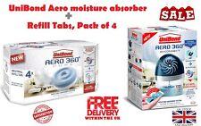 UniBond Aero 360° E-Connect moisture absorber + Neutral Refill Tabs 450g 4 Packs