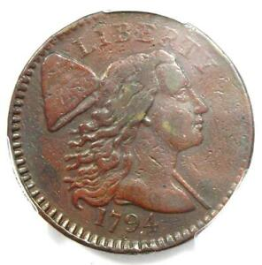 1794 Liberty Cap Large Cent 1C Coin - Certified PCGS VF Details - Rare Coin!