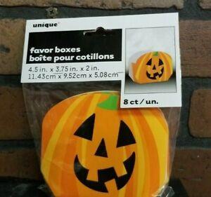 "8 ct Jack O' Lantern Pumpkin Favor / gift  boxes  Halloween 4.5"" x 3.75"" x 2"""