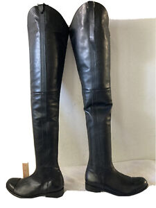 NEW UNISEX FERNANDO BERLIN CROTCH HIGH  BLACK BOOTS  EU 42 US GALS 11 1/2 GUYS 9