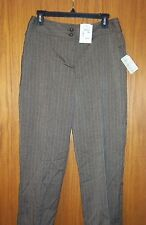 """Womens """"CHRISTOPHER & BANKS"""" easy fit light brown dress pants size 4 short NWT"""