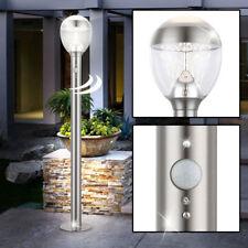 LED Außen Steh Lampe Garten Balkon Strahler Bewegungsmelder Edelstahl Leuchte