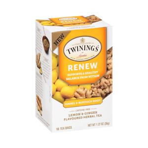 Twinings Renew Fennel & Burdock Root Lemon & Ginger Herbal Tea