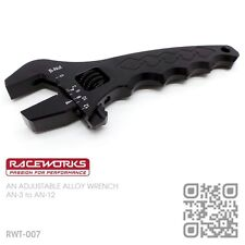 RACEWORKS ADJUSTABLE BILLET ALLOY SPANNER AN-3 to AN-12 BRAIDED HOSE FITTINGS