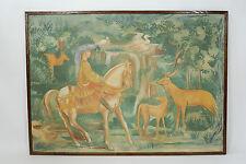 Affresco cavaliere con cervi