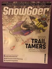 """Snow Goer Magazine December 2019  """"2020 TRAIL TAMERS"""" -FREE SHIPPING"""