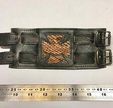 Eisernes Kreuz Leder Python Strap Handgelenk Manschette Armband Biker Gothic Punk Rock