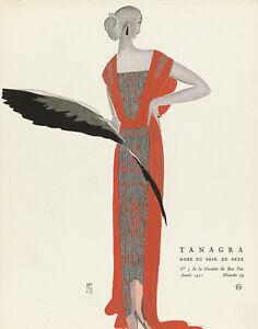 Tanagra Evening Gown La Gazette du Bon Ton 1921 Art Print