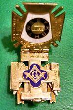 1920 MASONIC 14K GOLD TRI-FOLD FOB 32ND DEGREE SCOTTISH RITE HARRISBURG PA ZEMBO