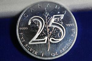 Kanada Maple Leaf 2013 - 5 Dollar - 1 oz .999 Silber - 25 Jahre Jubiläumsedition