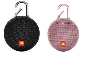 JBL Clip 3 Rechargeable Waterproof Portable Bluetooth Speaker Black Pink