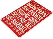 TIN SIGN Boston Baseball Red Sox Metal Décor Wall Store Shop Garage Bar A257